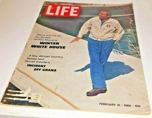 February 21, 1969 LIFE Magazine Richard Nixon 1960s adverting FREE SHIP Feb. 2