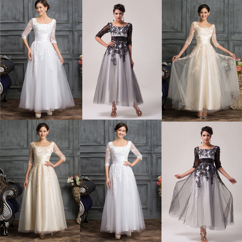 Evening Gowns For Wedding Guests: 2017 Vintage Retro Wedding Guest Evening Party Formal