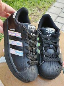 adidas superstar black for girls