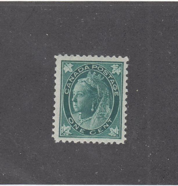 CANADA  #67  VF-MNH  1cts 1897  QUEEN VICTORIA MAPLE LEAF /BLUE-GREEN  CV $210