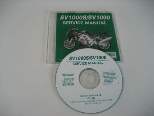 SUZUKI sv1000 sv1000s WVBX Riparazione CD MANUALE OFFICINA SERVICE MANUAL NEW