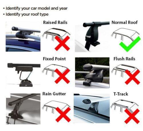 Summit Roof Rack Cross Bars fits Seat Ibiza IV 5 door 2008-2016