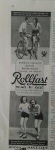 1933-Rollfast-America-039-s-quality-bicycle-roller-skates-vintage-original-ad