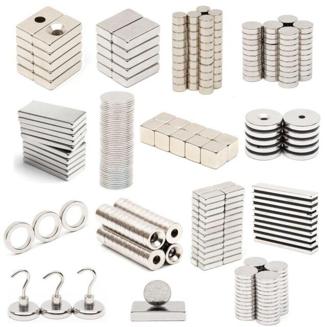 5/10/20/50 N52 N35 Strong Round Block Disc Magnet Rare Earth Neodymium Magnets