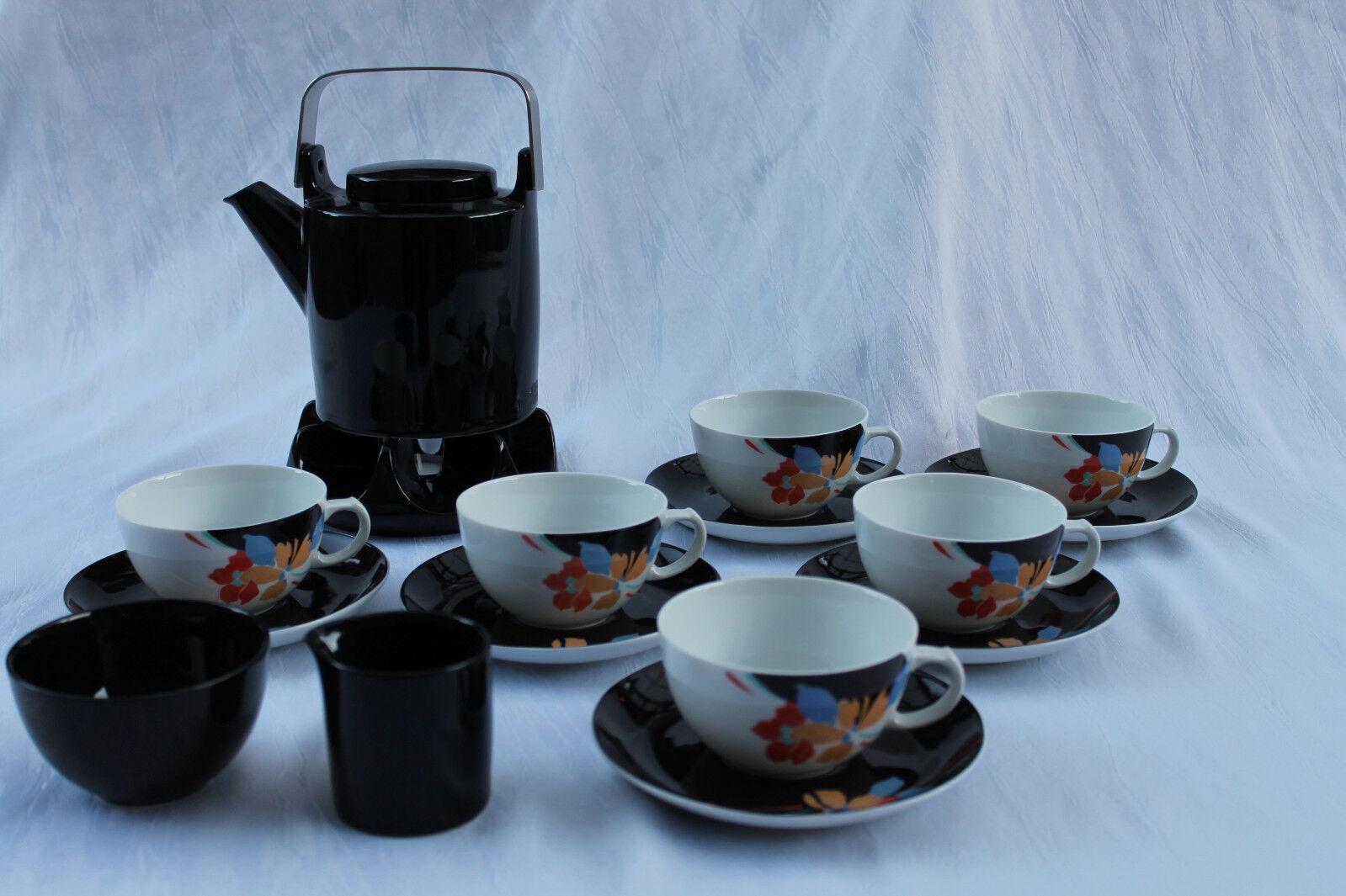 Arzberg Porzellan Teeservice Teekanne Stövchen Tassen Untertassen 6 6 6 Pers 16 tgl. 81b3e5