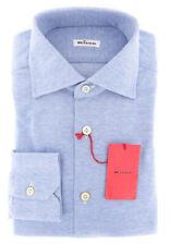 $600 Kiton White Solid Shirt Slim UCCH181FAA1