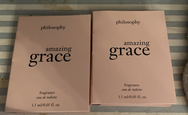 2x Philosophy Amazing Grace Eau De Toilette EDT Perfume Samples 1.5ml each