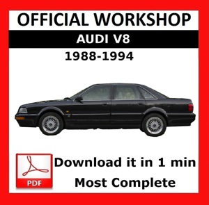 official workshop manual service repair audi v8 1988 1994 rh ebay co uk audi r8 v8 owners manual audi r8 v8 owners manual