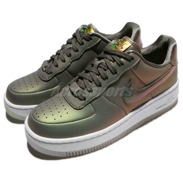 Nike Wmns AF1 Upstep PRM LX Air Force 1 Dark Stucco Lux Women Shoes AA3964 001