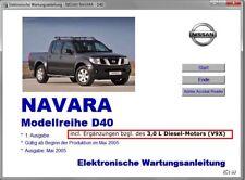 Werkstatthandbuch, elektr. Reparatur/Wartungsanleitung Nissan Navara D40 v.USB