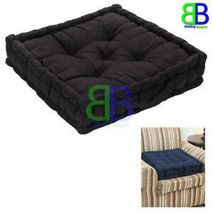 Black 100 Cotton Booster Seat Cushion