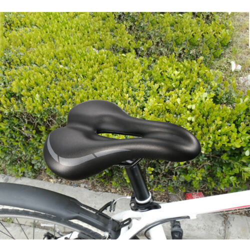 Thickened Bicycle PU leather Mountain Bike Extra Sporty Soft Pad Saddle Seat US