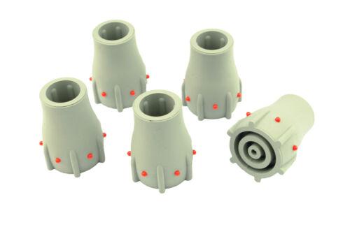 "5 x Grey 19mm 3//4"" Walking Stick Cane Crutch Zimmer Ferrule Wear Indicator L0013"