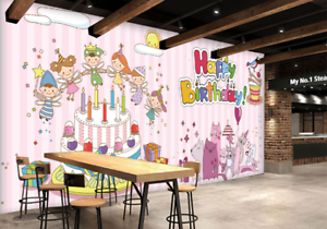 3D Happy Birthday 76 Wall Paper Murals Wall Print Wall Wallpaper Mural AU Kyra