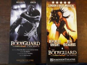 2-DIFFERENTS-FLYERS-FLYER-MUSICAL-WEST-END-LONDON-BODYGUARD