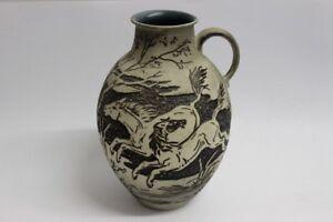 Relief-Vase-Wildpferde-50er-Jahre