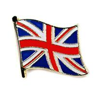 British Flag Lapel Pin 0.5 Uk Great Britain England Union Jack Pinback Tie Hat
