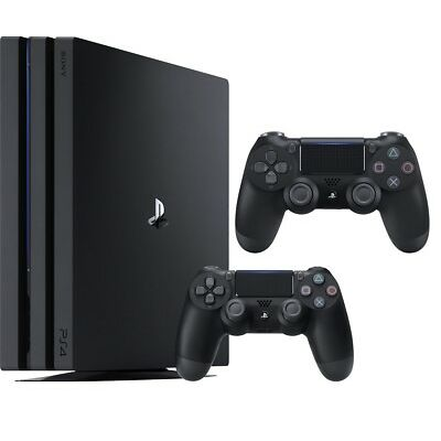 Sony - PlayStation 4 Pro Console - Jet Black + Extra Controller NEW