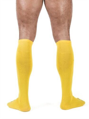 B MISTER B GIALLO FOOTBALL-SOCKS CALCIO-Calze al ginocchio per il sig