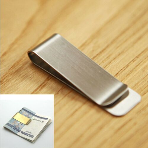 Gold Color Banknote Holder Wallet Credit Card ID Clips Cash Clamp Money Clip