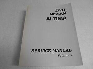 2001 nissan altima service manual volume 2 nos oem factory. Black Bedroom Furniture Sets. Home Design Ideas