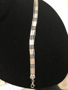 Vintage-Sterling-Silver-Bracelet-925-Chain-Italy-7-5