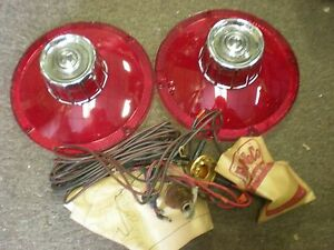 s l300 nos 1963 ford galaxie 500 xl tail light lens w bulbs & wiring 1963 ford galaxie wiring harness at gsmportal.co
