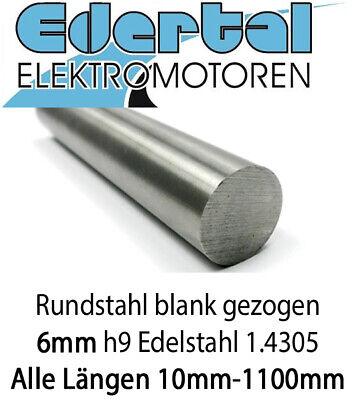 Edelstahl Rundstahl Vollmaterial Stabstahl V2A 1.4301 kaltgezogen blank 14mm x 1500mm