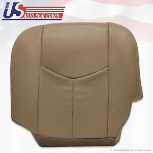 2003 2004 2005 2006 chevy silverado 2500 hd driver bottom vinyl seat cover tan ebay. Black Bedroom Furniture Sets. Home Design Ideas