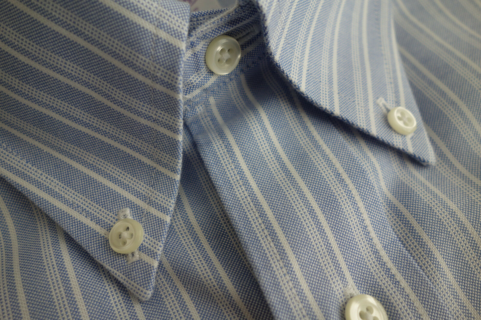 NWOT Brooks Bredhers Brookscool Non Iron bluee Stripe Button Down 15-33 MSRP
