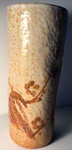 Vtg 70s Ceramic Stoneware Pottery Vase Retro Mid Century Modern Japan Ikebana