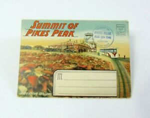 1946-Picturesque-Pikes-Peak-Region-Colorado-Vintage-Souvenir-Folder-Postcard