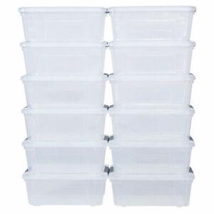 Costway 12Liter 12PCS Latch Stack Storage Box Tubs Bins Latches Handles