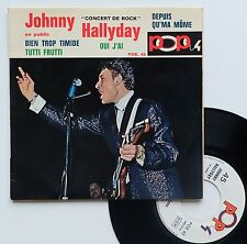 "Vinyle 45T Johnny Hallyday  ""Concert rock - Depuis qu'ma môme"""
