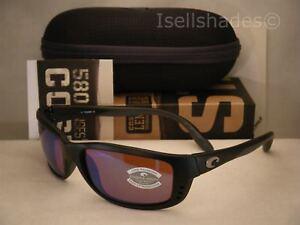 01da0d439d8c0 Costa Zane Matte Black w Green 580G lens NEW Sunglasses (ZN11 OGMGLP ...