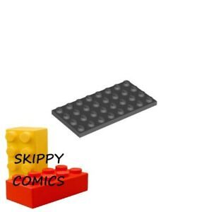 4211061 lego plaque 4 x 8 gris foncé 3 pièces NEUF