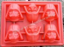 Star Wars Darth Vader Chocolate Fondant Clay Jelly Silicone Soap Mold Molder