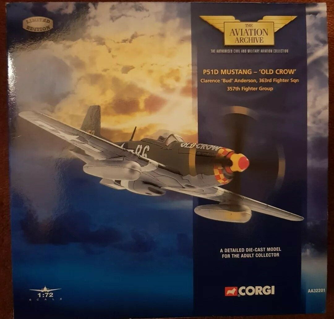 Corgi Aviation P-51D Mustang 'Old Crow' Clarence 'Bud' Anderson AA32201 NEW