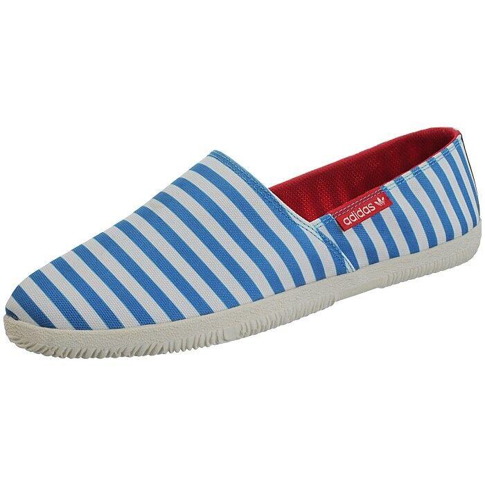 Adidas Adidrill bluee white men's espadrilles sneakers plimsolls slippers NEW