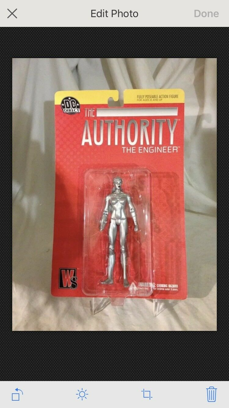 2002-DC DIRECT-THE AUTHORITY-THE ENGINEER FIGURE-MISP -NEAR MINT -CLEAN -CLEAN -CLEAN ITEM 47b0e5