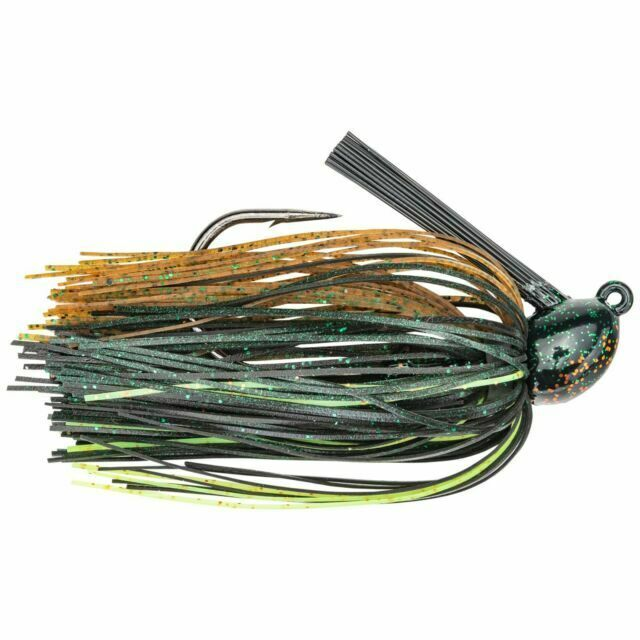 Strike King Jig Hack Attack Heavy Cover HAHCJ12-46 Green Pumpkin Craw 1//2oz