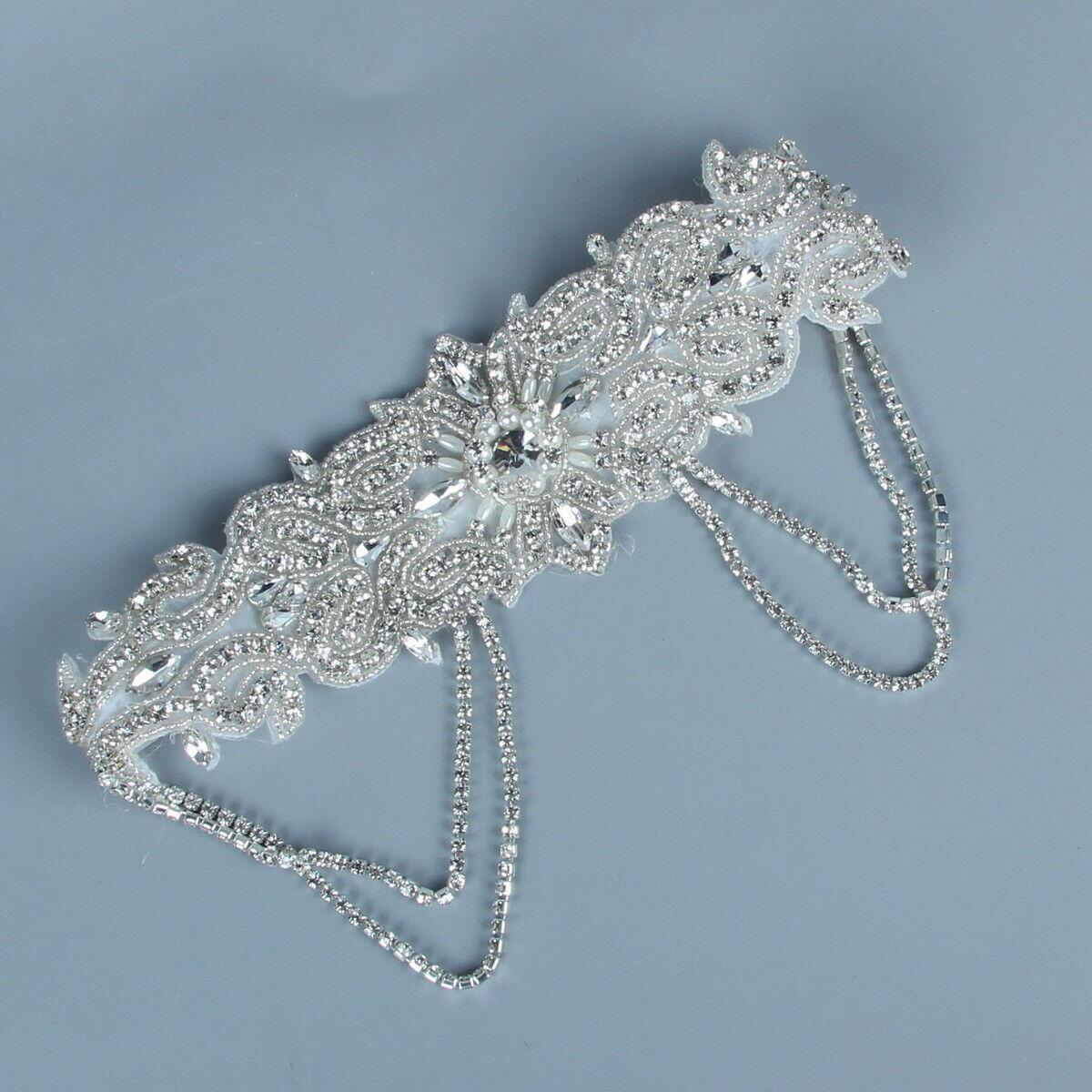 1920s Headband Wedding Silver Bridal Great Gatsby 20s Flapper Headpiece Gangster