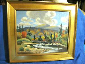 Adirondacks, N.Y.  Fall Foliage Vintage Oil Painting Listed Artist Herb Steinke