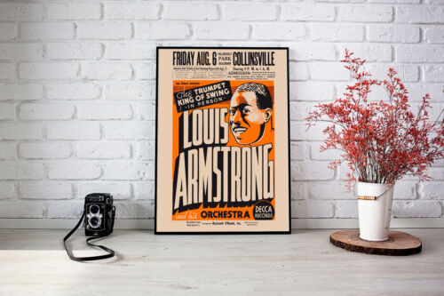 Canvas Louis Armstrong Concert Poster Art print POSTER
