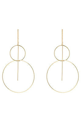 NEW Basque A67405BA/GOLD Metal Mania ER- Fine Circle Looped Earring Gold