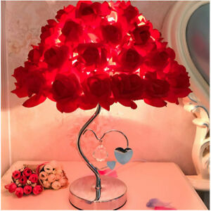 Details about Table Lamp,Rose chade lamp Desk,Bedside Reading Lamp  (Birthday Party Wedding Dec