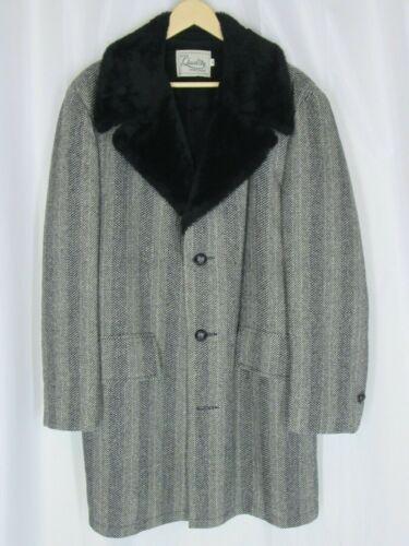 Men 42 Wool Coat Jacket Deluxe Quality Sportswear