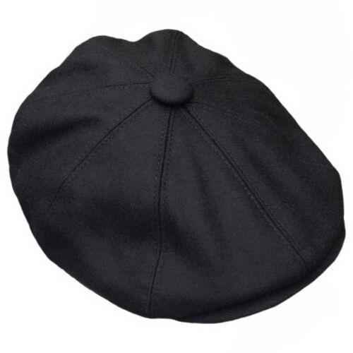 Brown herringbone Gatsby Cap Hat Mens Ladies Flat 8 Panel Baker Boy Newsboy