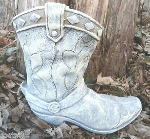 Latex With Plastic Backup Plaster Concrete Cowboy Boot Planter Mold