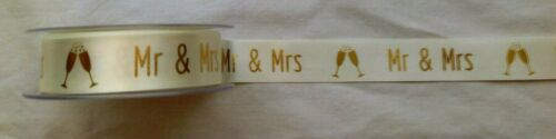 Mr /& Mrs Satin  Ribbon 25MM   To Have /& To Hold Satin Ribbon 15mm x 1M 3 Colour
